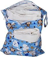 Waschbar Wiederverwendbare Windel Beutel Baby Tuch Wasserdicht Wickeltasche mit zwei Rei/ßverschluss
