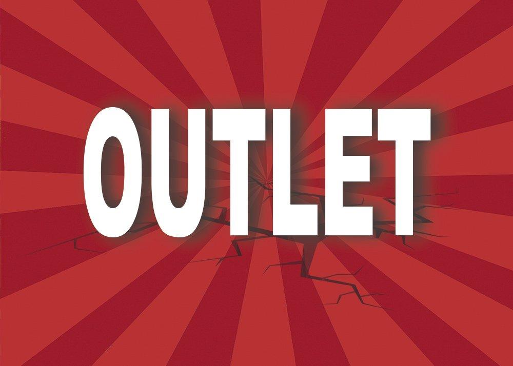 Cartel Outlet   Varias medidas 35 cm x 25 cm   Cartel publicitario Outlet   Cartel Oferta Outlet   Cartel oportunidad Outlet Oedim