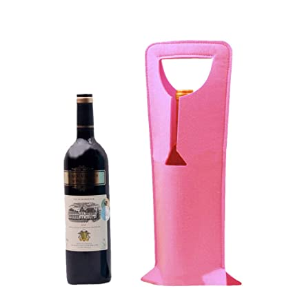 LiPing 165x63quotPersonalised Wine Bags Gift Felt Cloth Spirits Bottle Bag