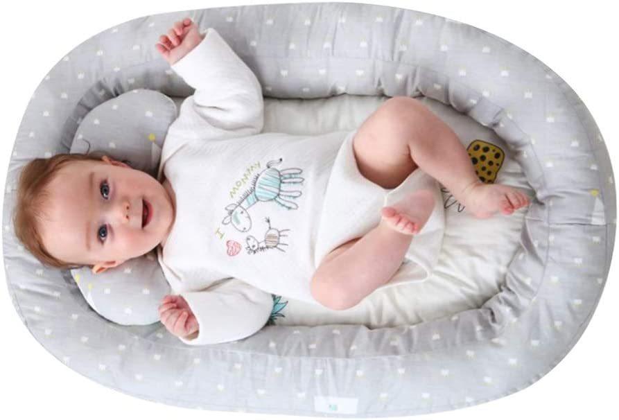 Napping and Travel Washable Weixinbuy Baby Bassinet for Bed Co-Sleeping Crib for Newborn Infant Toddler Baby Breathable Lounging and Portable Baby Nest Perfect for Cuddling