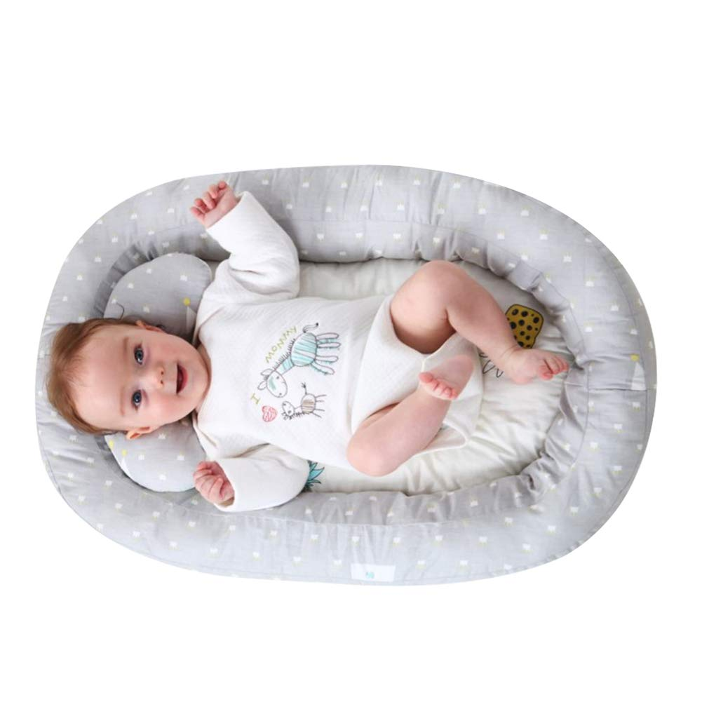 Baby Lounger for Bed Bassinet Weixinbuy Fold Travel Portable Crib Baby Sleep Nest Cotton Removable Cover Breathable & Hypoallergenic Safety Baby Bed for Infants Toddler Newborn Baby by Weixinbuy