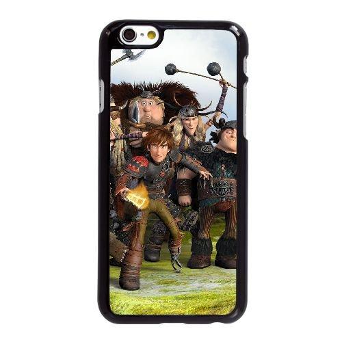 U6Q65 Comment dresser votre dragon Q2O8WW coque iPhone 6 Plus de 5,5 pouces cas de couverture de téléphone portable coque noire RT6GKO1AL