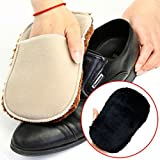 2pcs Multifunctional Soft Plush Wipe Shoes Mitt Brush Cleaning Gloves Shoes Care Tool by MarbellStore