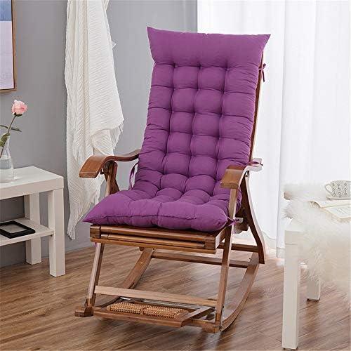 ロングクッションスリーピングパッド 肥厚長椅子はLongueチェアリクライニングチェアパッドロッキングチェアクッションソファクッション畳ウィンドウのクッションシートソファクッション (Color : Purple, Size : Free size)