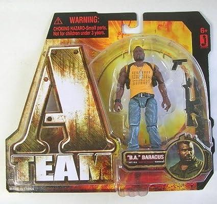 Amazon Com A Team Ateam 2010 Movie 3 3 4 Inch Action Figure B A Baracus Quinton Rampage Jackson Toys Games
