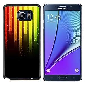 SKCASE Center / Funda Carcasa protectora - Barras de neón Música - Samsung Galaxy Note 5
