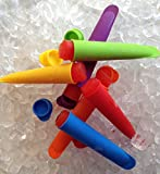 EZ Freezer Pop - Set of 6 Silicone Popsicle, Pickle Juice, Yogurt, Smoothie, Juice, Ice Pop Molds- Fill with Natural Healthy Ingredients- Fun to Make, Re-usable, BPA Free, FDA Approved 100% Food Grade Silicone- Lifetime Guarantee.