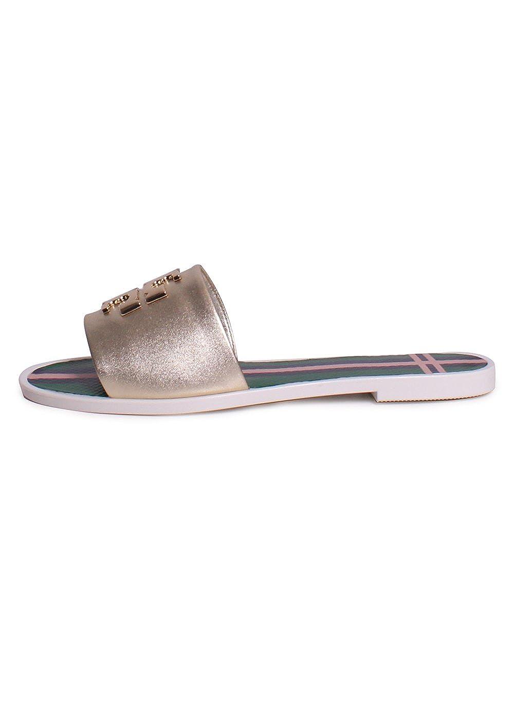 1da9767b41cbe8 Tory Burch Logo Jelly Flip Flops Shoes Sandals Flat New (7