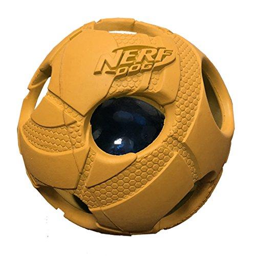Nerf Dog Medium LED Bash Ball Light-Up Orange Dog Toy