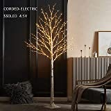 LITBLOOM Lighted Twig Birch Tree with Fairy