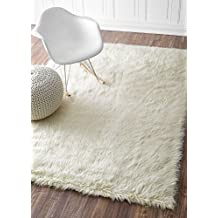 nuLOOM 200BIBL15A-305 Faux Sheepskin Solid Soft and Plush Cloud Shag Rug (3-Feet X 5-Feet)