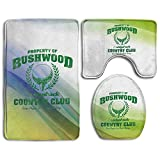 Bushwood Country Club Skidproof Toilet Seat Cover Bath Mat Lid Cover
