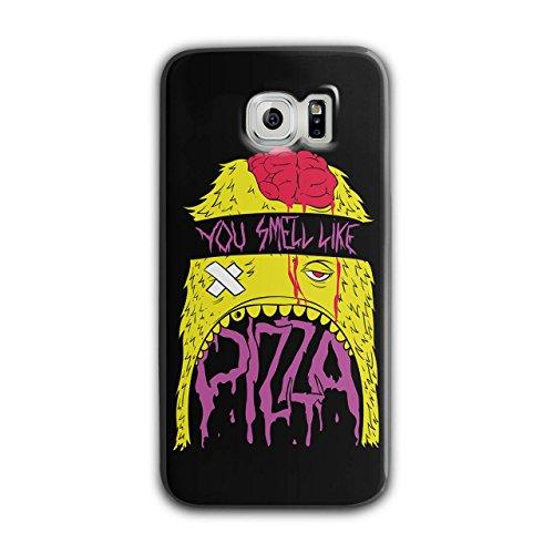 Smell Pizza Zombie Dead Hungry NEW Black 3D Samsung Galaxy S6 Case | Wellcoda (Zombie Pizza)