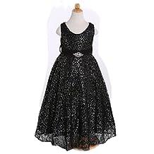 3-10T Girls High-grade Gold Lace Ball Gown Princess Dress