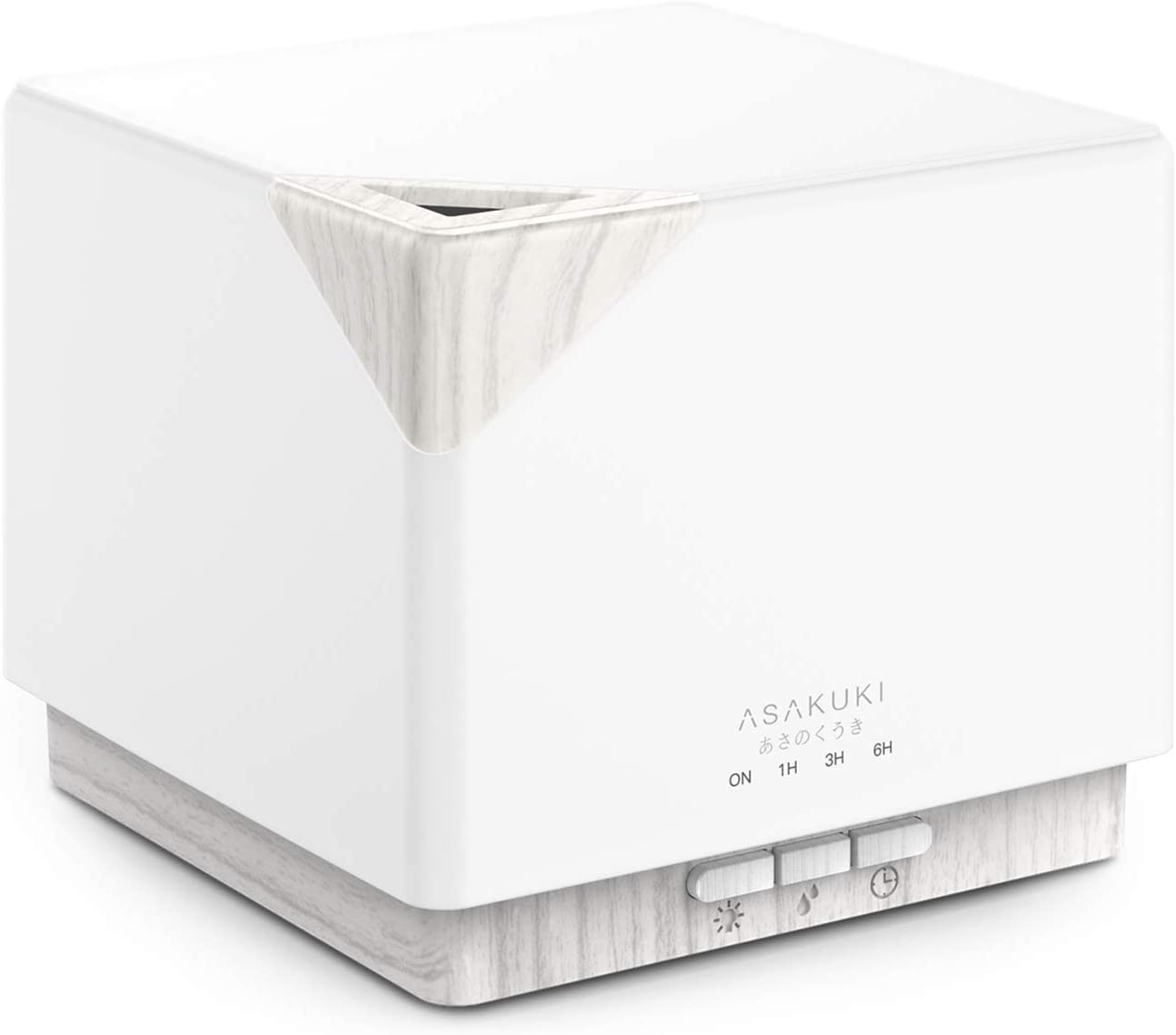 ASAKUKI 700ml Essential Oil Diffuser, Premium 5 in 1 Ultrasonic Aromatherapy Fragrant Oil Vaporizer Humidifier, Timer and Auto Off Safety Switch, 7