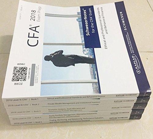 2018 CFA Level 3 Kaplan Schweser: Books 1-5, Practice Exam Vol 1-2,  QuickSheet