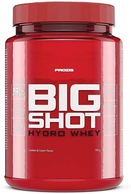 Prozis Big Shot Hydro Whey, Sabor Galletas y Crema - 750 gr