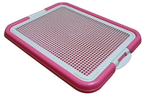 Pet Time Dog Toilet Pet Dog Puppy Cat mesh Potty Litter Training pad Holder 21 X 17 AMT-40 (Pink)