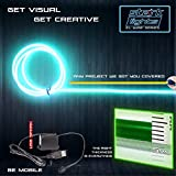 1-PACK 10m/32.8ft Teal Neon LED Light Glow EL Wire - 5 mm thick - Powered by 12V USB Port - Electroluminescent Wire String Light for DIY Project Costume Accessories Cosplay