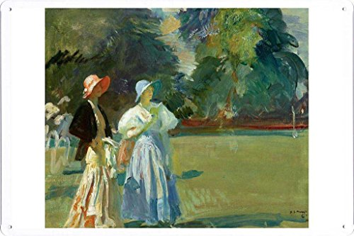 Artwork Oil Paint of Alfred James Munnings - Ascot, 1933 on Tin Sign by Masterpiece Collection (20*30cm)