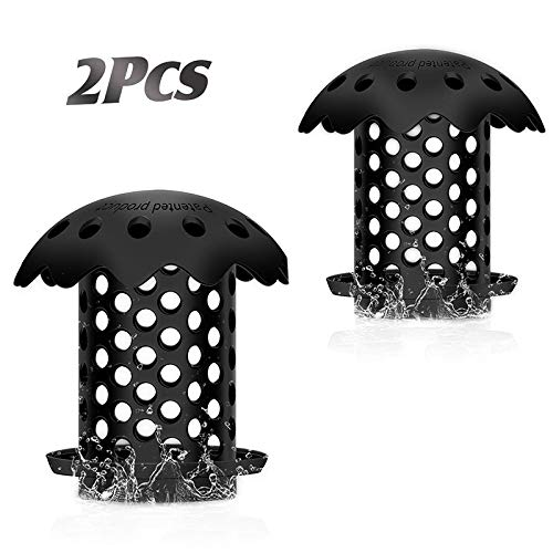Femonden 2 Pack Bathtub Sink Drain Hair Catcher Protector Strainer, Durable Bath Tub Shower Drain Protector Snare Prevents Hair from Clogging Drains (Black)