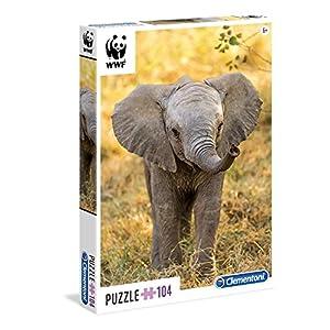 Clementoni 27999 Puzzle 104 Wwf Elefante