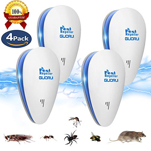 Pest Repellants - [2018 New] Pest Control Ultrasonic Repellent, Electronic Bug Repellent Reject Ant, Mosquito, Rat, Roach, Flea, Rodent, Insect, Pest Repellent Indoor Plug in, Safe for Human and Pets Control(4 Packs)