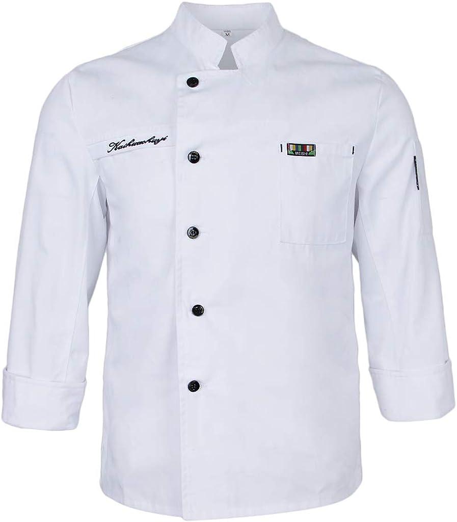IPOTCH Uniforme Da Cuoco Estiva A Maniche Corte Cappotto Da Giacca Da Chef Hotel Moda Semplice Per Uomo Donna