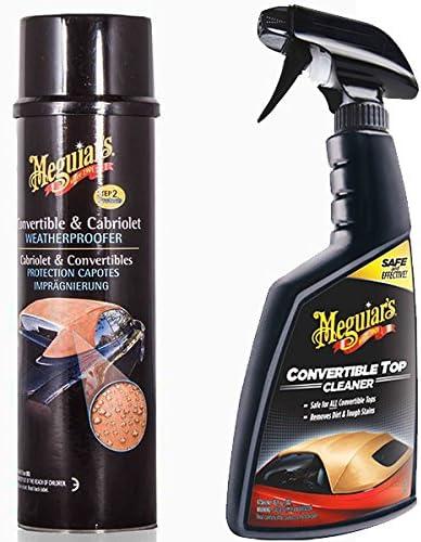 Meguiars Convertible Car Soft Top Fabric Hood Cleaner Waterproofer Kit Auto