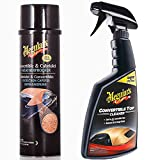 Meguiars Convertible Car Fabric Hood Soft Top Cleaner & Waterproofer Kit