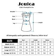 Jouica Women's A-line Swing Midi Dress 3/4 Sleeve Splice Long Dresses