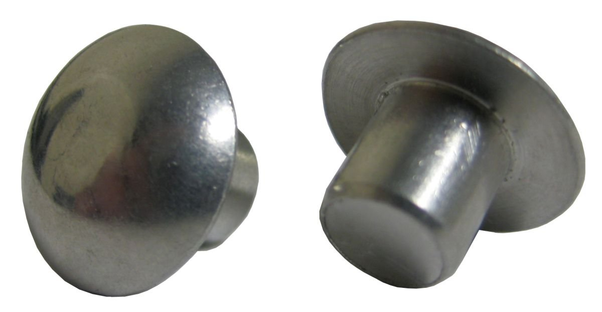 Pack of 1 Pound - Approximately 410 Pieces Plain Finish. 3//16 X 3//4 Solid 1100F Aluminum Rivet Universal Head