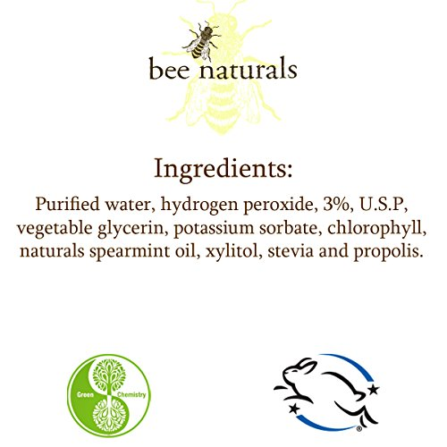 Best Whitening Pre-brush Oral Rinse - Clean White Teeth Naturally - Includes Xylitol - Beautiful Smile & Fresh Breath - Neutralizes Odor & Germs - No Harmful Chemicals, Alcohol, Artificial Sweeteners by Bee Naturals (Image #2)'