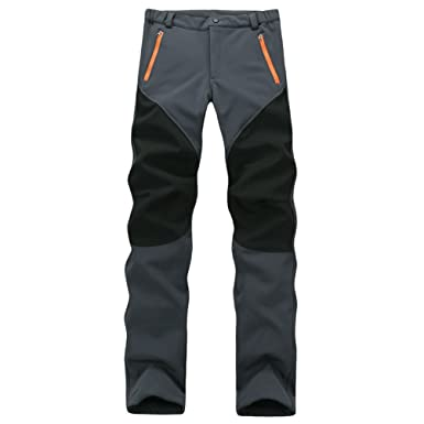 Homme Extérieur Randonnée Yilianda Softshell Imperméable Pantalons Pantalon De Respirante D'escalade Trekking OXTPZuki