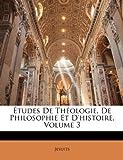 Études de Théologie, de Philosophie et D'Histoire, Jesuits, 1144932262