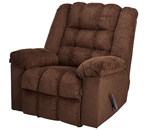 - Premium Ludden Rocker Recliner - 1 Pull Manual Reclining Sofa - Contemporary - Cocoa Brown