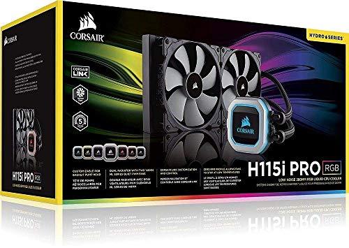 CORSAIR HYDRO Series H115i PRO RGB AIO Liquid CPU Cooler,280mm, Dual ML140 PWM Fans, Intel 115x/2066, AMD AM4 (Renewed) by Corsair (Image #5)