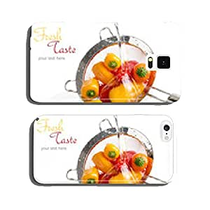 Mini peppers in a colander, wash with water cell phone cover case iPhone6