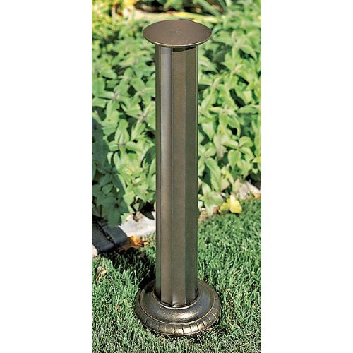 Whitehall Products Aluminum Roman Sundial Pedestal, French Bronze (Outdoor Pedestals)