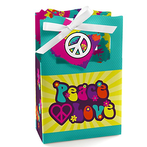 60's Hippie - 1960s Groovy Party Favor Boxes - Set of 12 ()