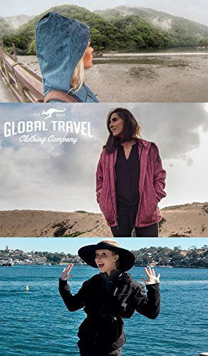 Joey Travel Jacket with Hidden Pockets. (Medium, Blue) by Global Travel Clothing (Image #5)
