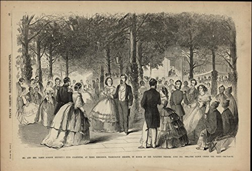 Formal Party Ball Gowns Tuxedos Japanese Princes nice 1860 great antique print