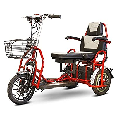 eWheels Folding Bariatric Scooter in Red: Toys & Games