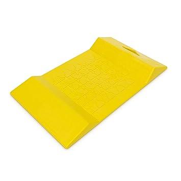 Amazon.es: Tope para aparcamiento Plástico amarillo 1, 1 kg de peso 52, 5 x 30 x 5 cm