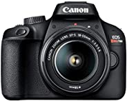 Câmera Digital EOS Rebel T100 18-55mm f/3.5-5.6 IS III BR, Canon, Preto