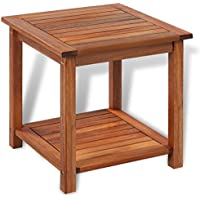 Festnight End Table Coffee Table, 18 x 18 x 18, Acacia Wood