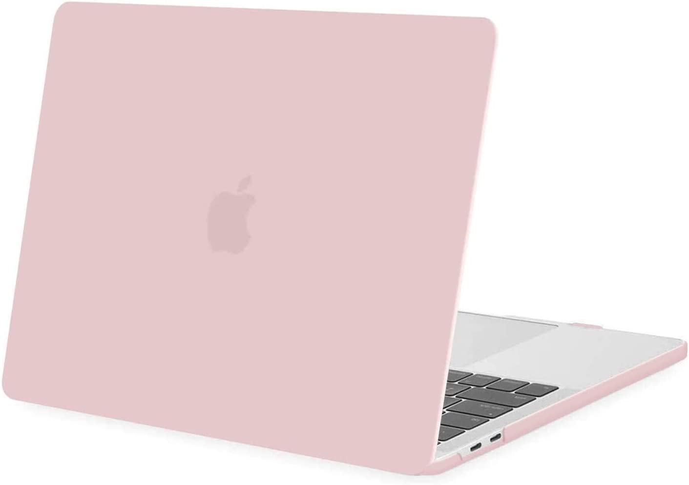 MOSISO MacBook Pro 13 inch Case 2020 2019 2018 2017 2016 Release A2289 A2251 A2159 A1989 A1706 A1708, Plastic Hard Shell Case Compatible with MacBook Pro 13 inch with/Without Touch Bar, Rose Quartz