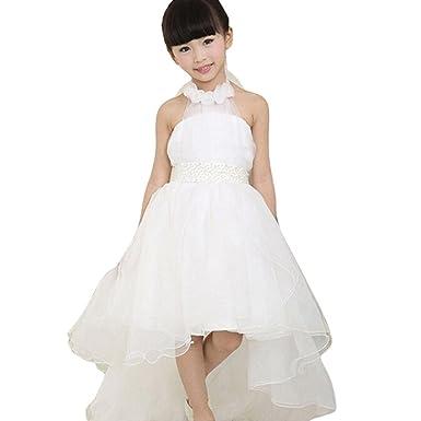 Amazon.com: Scaling ❤ Girls Dress, Baby Girl White Halter Wedding ...