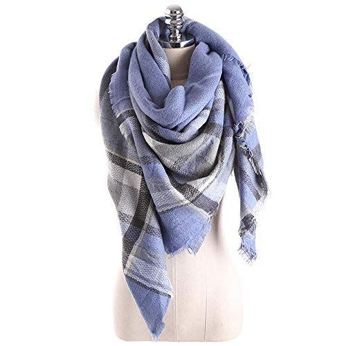 Women's Soft Warm Color Stitching Scarf Fall Winter