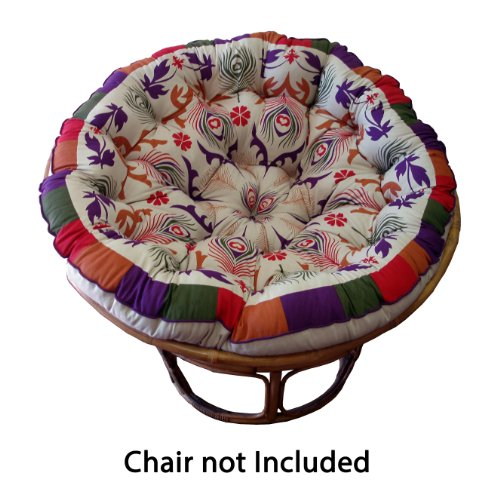 Cotton Craft Papasan Round Cushion for 45-Inch Chair, Peacock Purple (Furniture 1 Pier Patio Cushions)